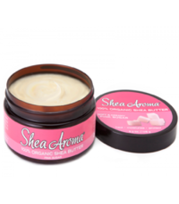 SHEA AROMA: 100% PURE NATURAL WHIPPED SHEA BUTTER: PINK SUGAR