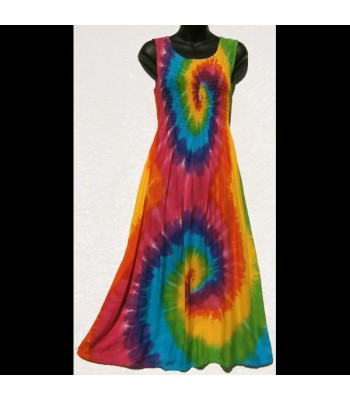 Spiral Rainbow Tank Dress