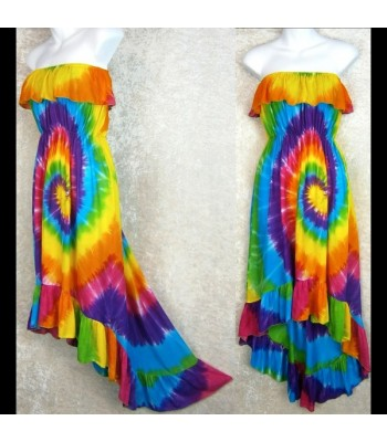 Rainbow Spiral Flamenco Dress