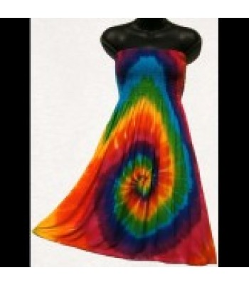 Spiral Rainbow Tie-Dye Convertible Dress/Skirt